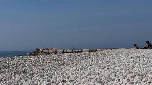Pula Istrien Südküste Kroatien Badestrände mit der blauen Flagge in Pula