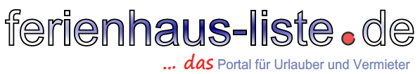 Logo Ferienhaus-Liste.de, Book private holiday houses and apartments directly from owner