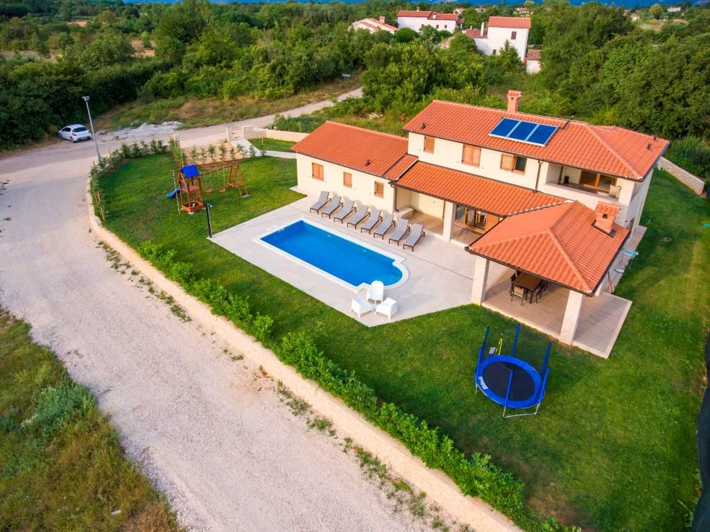 vila Villa JADRAN - Ferienhaus in Nedešćina, 8+2 Personen, 4 Schlafzimmer mit Badenzimmer, Labin, Labin Istrien Südküste Chorvátsko