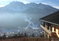 gospodarstwo rolne , Innichen, Dolomiten Trentino-Südtirol Wlochy