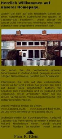 Maison de vacances , cadzand,  Zeeland Hollande