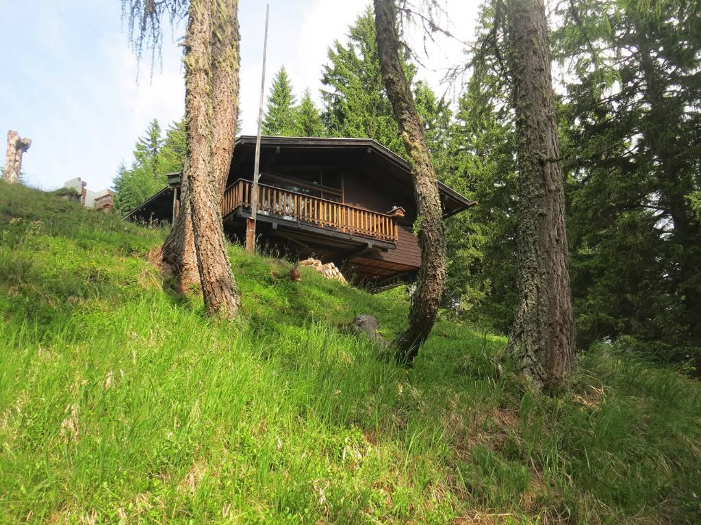 dom letniskowy Die Hütte ist aus Holz und steht auf Stützen, Goldeck / Spittal an der Drau, Oberkärnten Kärnten Austria