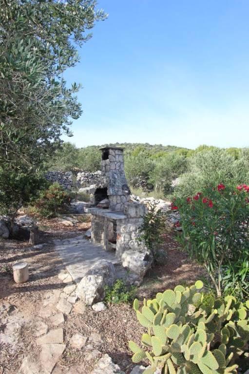 Chata, chalupa Steinhaus auf der Insel Žut, Otok Zut, Insel Murter Mitteldalmatien Chorvatsko