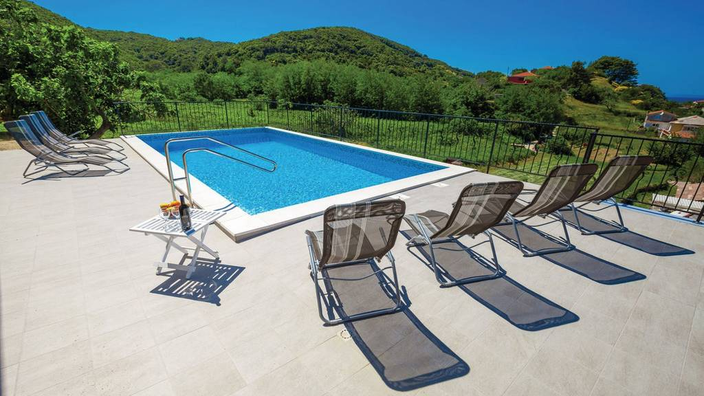 Ferienhaus in supetarska draga insel rab mit pool - Ferienhaus formentera mit pool ...