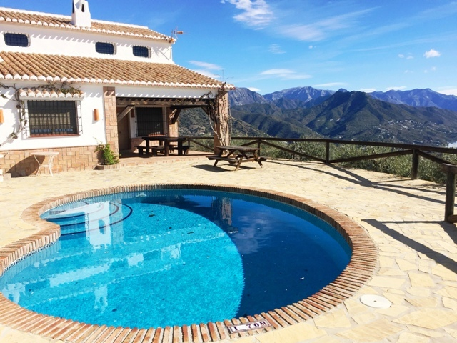 ferienhaus in competa costa del sol mit pool meerblick. Black Bedroom Furniture Sets. Home Design Ideas