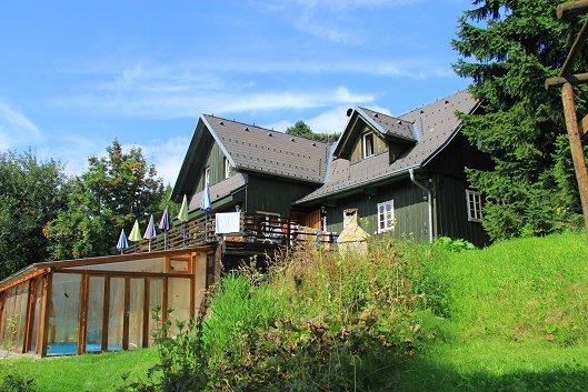 Casa di vacanze Benecko mit Pool und Sauna, 100m vom Skilift TR, Benecko, Riesengebirge Riesengebirge Repubblica Ceca