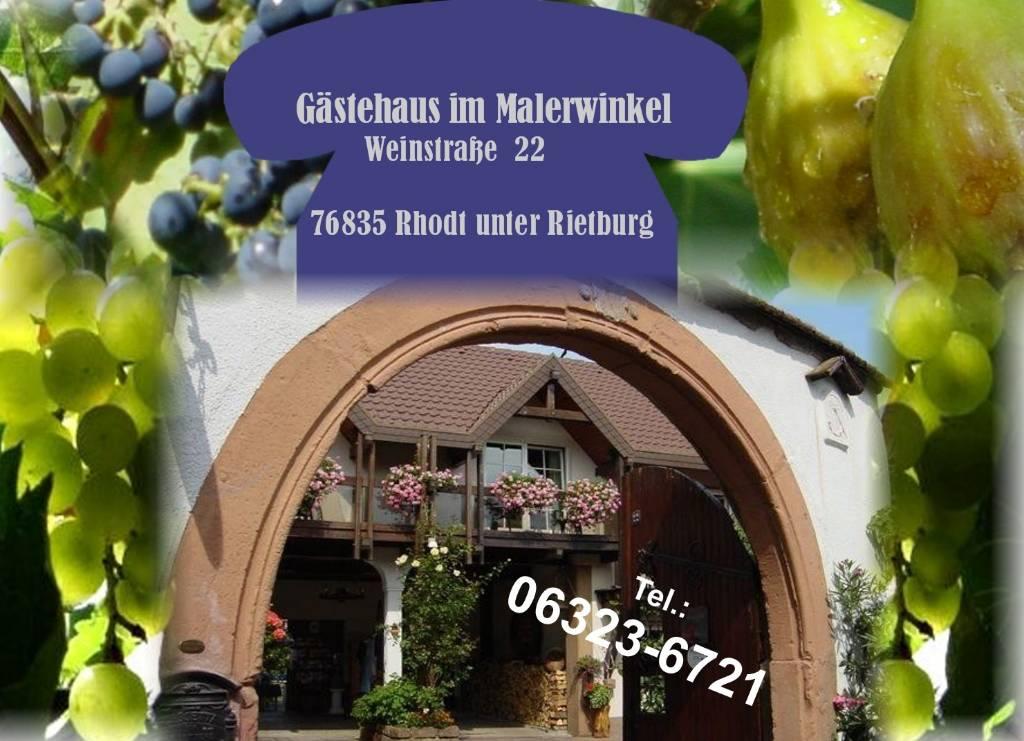 prázdninový  byt Gästehaus im Malerwinkel, Rhodt unter Rietburg, Südliche Weinstraße Rheinland-Pfalz Nemecko