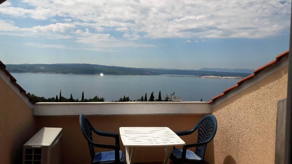 Appartement en location Das Apartment 6 hat eine grosse Terrasse mit Meerblick, Crikvenica, Crikvenica Kvarner Bucht Festland Kroatie