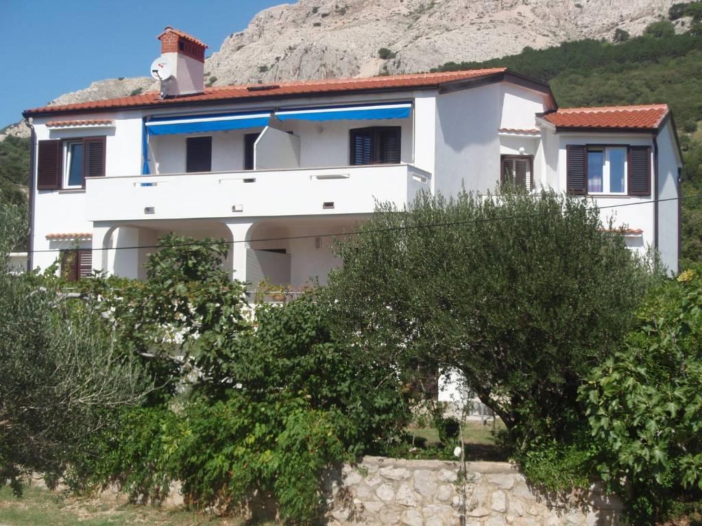 mieszkanie letniskowe Grosse Appartman mit 2 Schlafzimmer fur 4-5 Gaste, Terasse - Blick , Baška, Insel Krk Kvarner Bucht Inseln Chorwacja