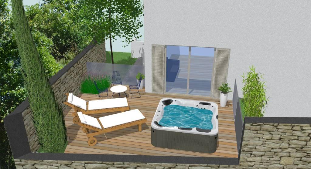 Atostogoms nuomojami butai Wohnung mit Whirlpool im privaten Garten., Baska, Insel Krk Kvarner Bucht Inseln Kroatija