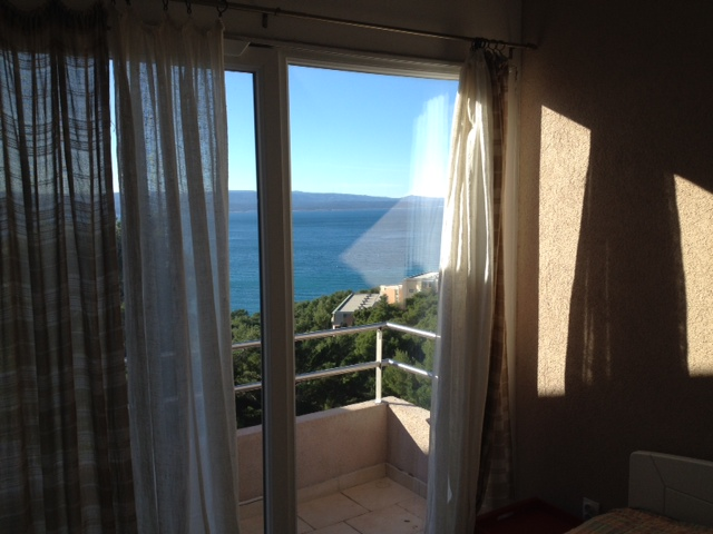Atostogoms nuomojami butai Villa Ivka, Studio Apartments 2 und 6 mit Terrase und privat Olivenbaum Garten hinter das Haus, Brela, Brela Mitteldalmatien Kroatija
