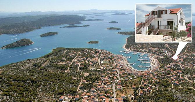 Appartamento di vacanze Ferienwohnung A1 (2+2) 45m2 + terasse 20 m2+ balkon 4 m2, Jezera, Insel Murter Mitteldalmatien Croazia