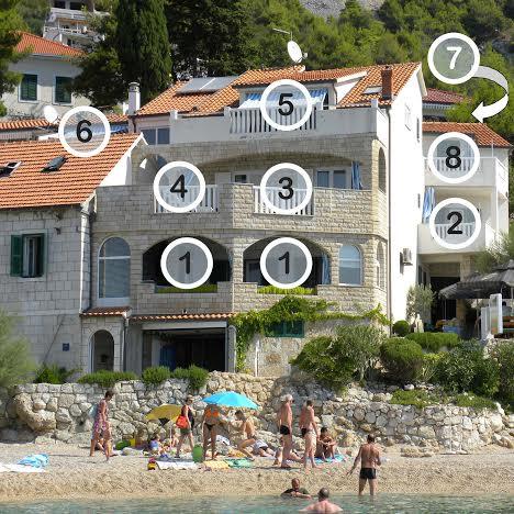 Appartement en location , Pisak, Omis Mitteldalmatien Kroatie