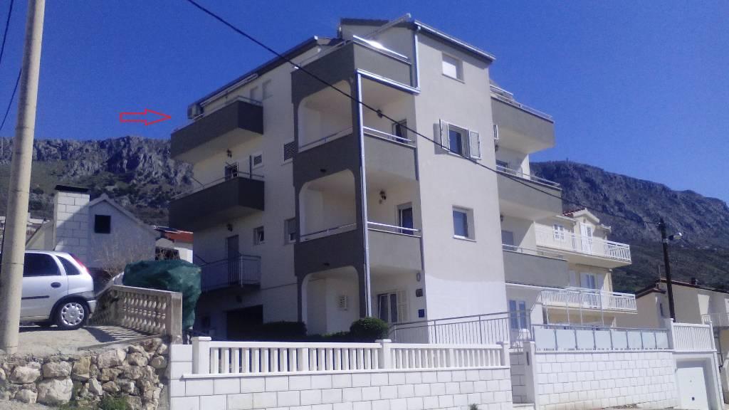 Apartmán Wohnung mit Meerblick, Mali rat, Omis Mitteldalmatien Chorvatsko