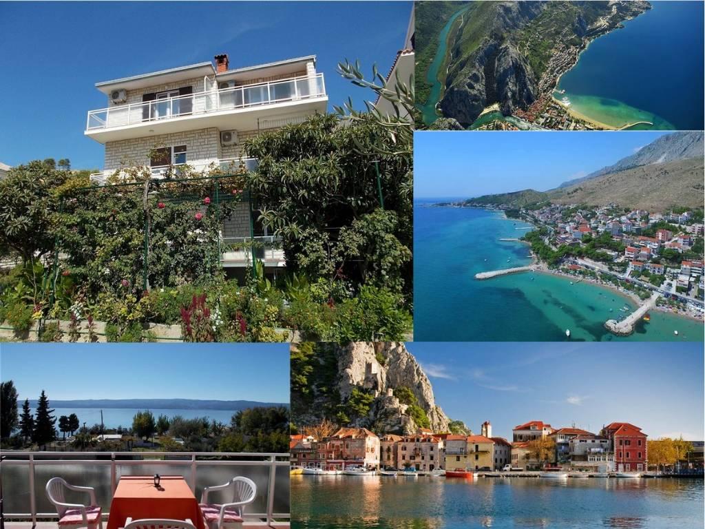 mieszkanie letniskowe mit toller Aussicht auf das Meer, Duce, Omis Mitteldalmatien Chorwacja