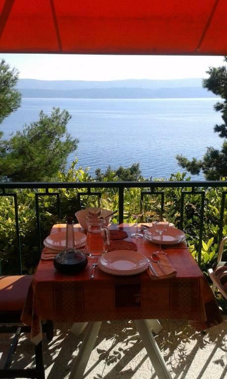 Apartmán Ein-Zimmer-Wohnung für 2-4 Personen mit Balkon und einem schönen Blick auf das Meer !, Stanici, Omis Mitteldalmatien Chorvatsko