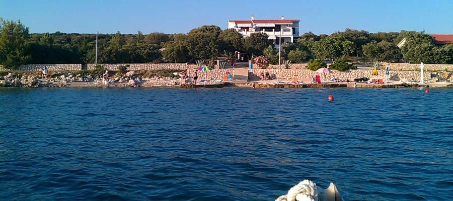prázdninový  byt Ferienwohnung direkt am Meer, mandre, Insel Pag Norddalmatien Chorvátsko
