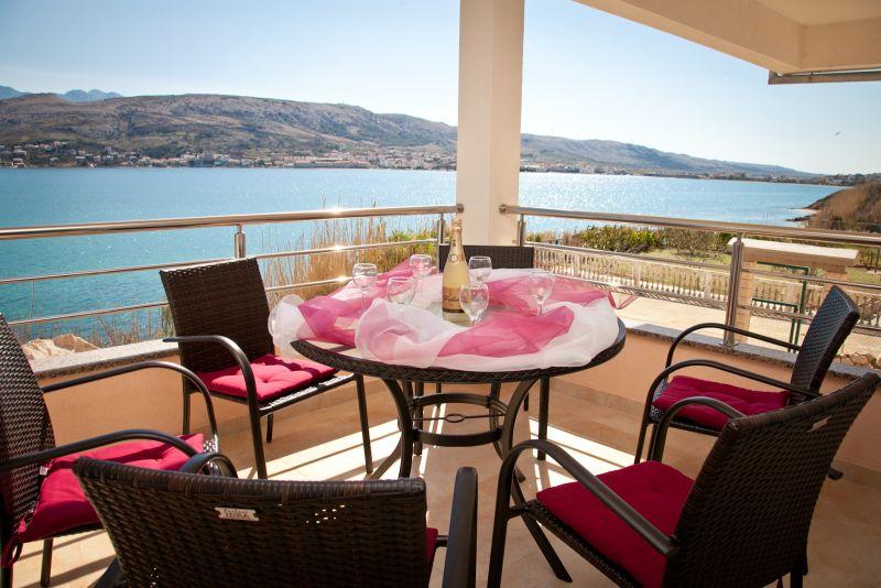 prázdninový  byt Ferienwohnung direkt am Meer, Pag, Insel Pag Norddalmatien Chorvátsko