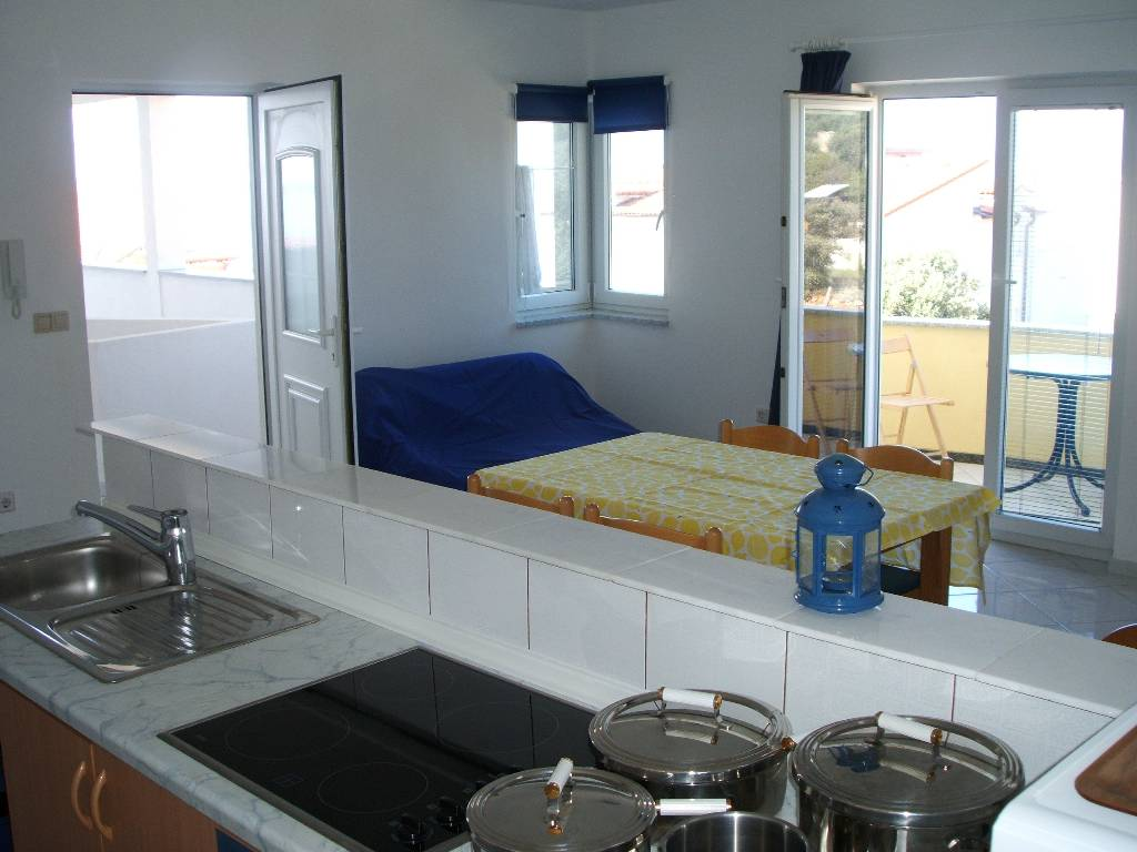 Appartement en location Klimatisiert mit gut ausgestatte Küche, schönen Blick aufs Meer, Mandre, Insel Pag Norddalmatien Kroatie