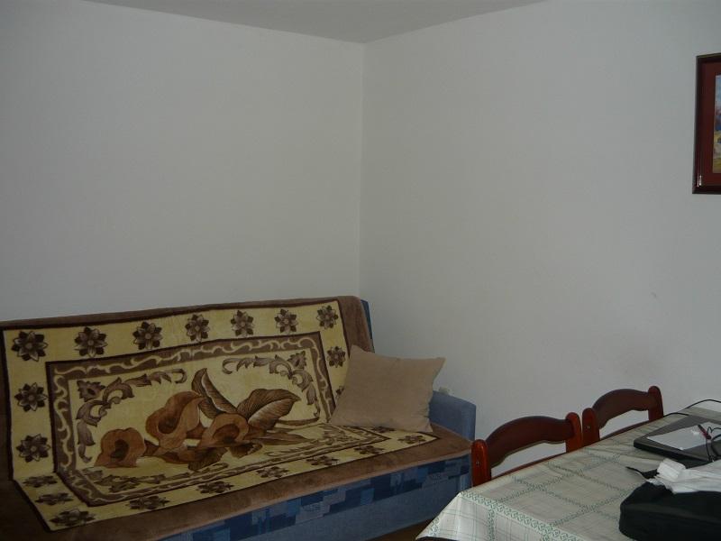 Terrasse Ferienwohnung 30 Qm Schlafzimmer Wohnzimmer Mit Kochnische Und Zwei Betten Bad