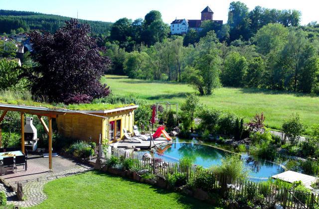 ferienwohnung in rieneck spessart main odenwald mit pool. Black Bedroom Furniture Sets. Home Design Ideas