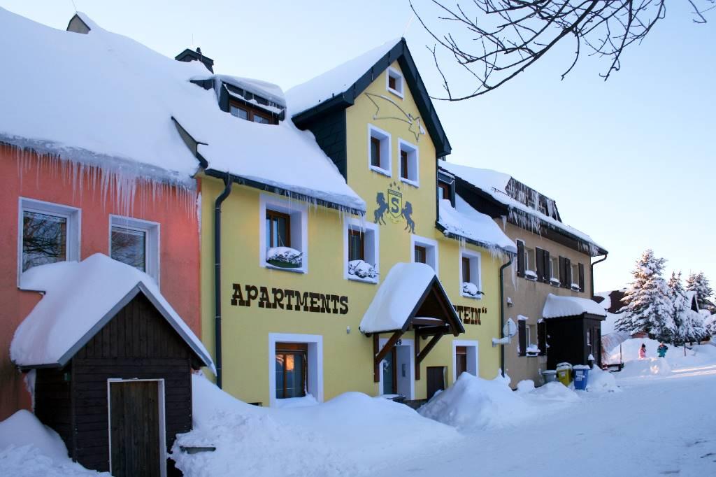 Atostogoms nuomojami butai 4 Appartments mit Gemeinschaftsraum, Boží Dar, Erzgebirge Erzgebirge Čekija