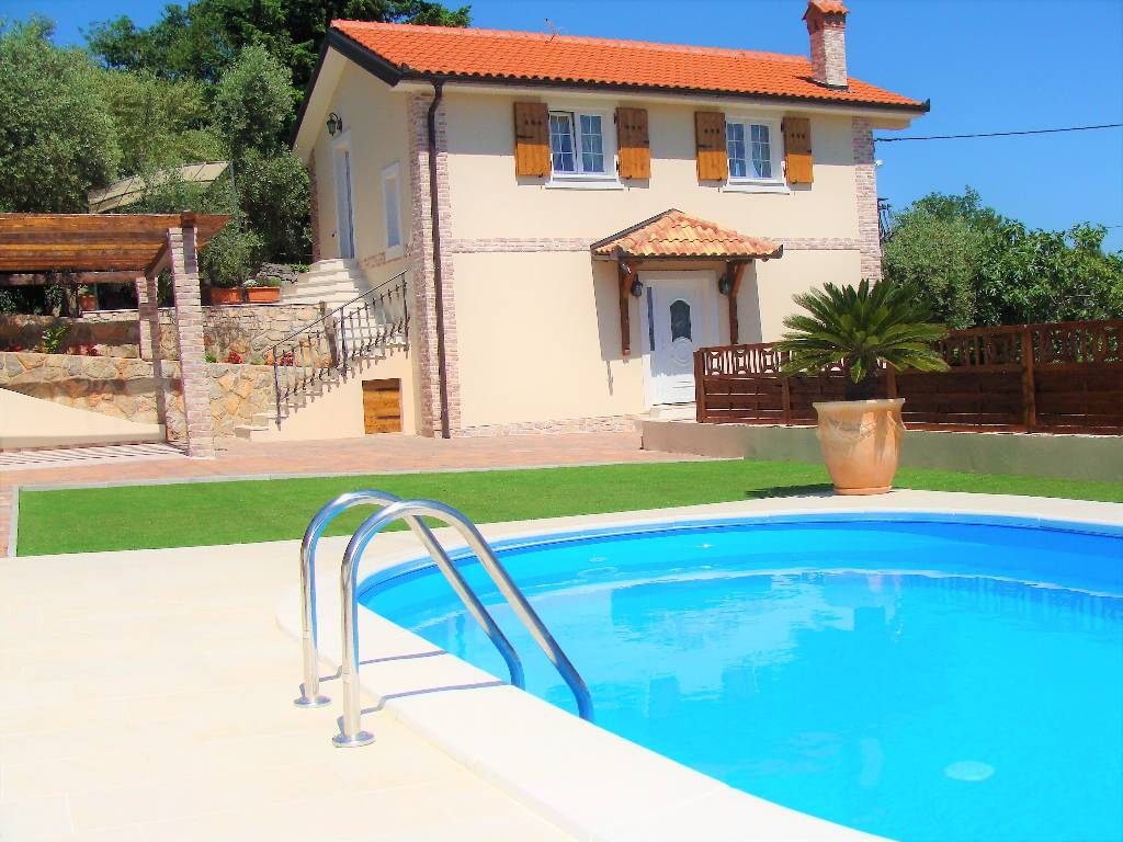 vila Neue Villa mit Pool und wunderschönem Blick auf das Meer, nur 800 m vom Strand, Icici, Opatija Kvarner Bucht Festland Chorvatsko