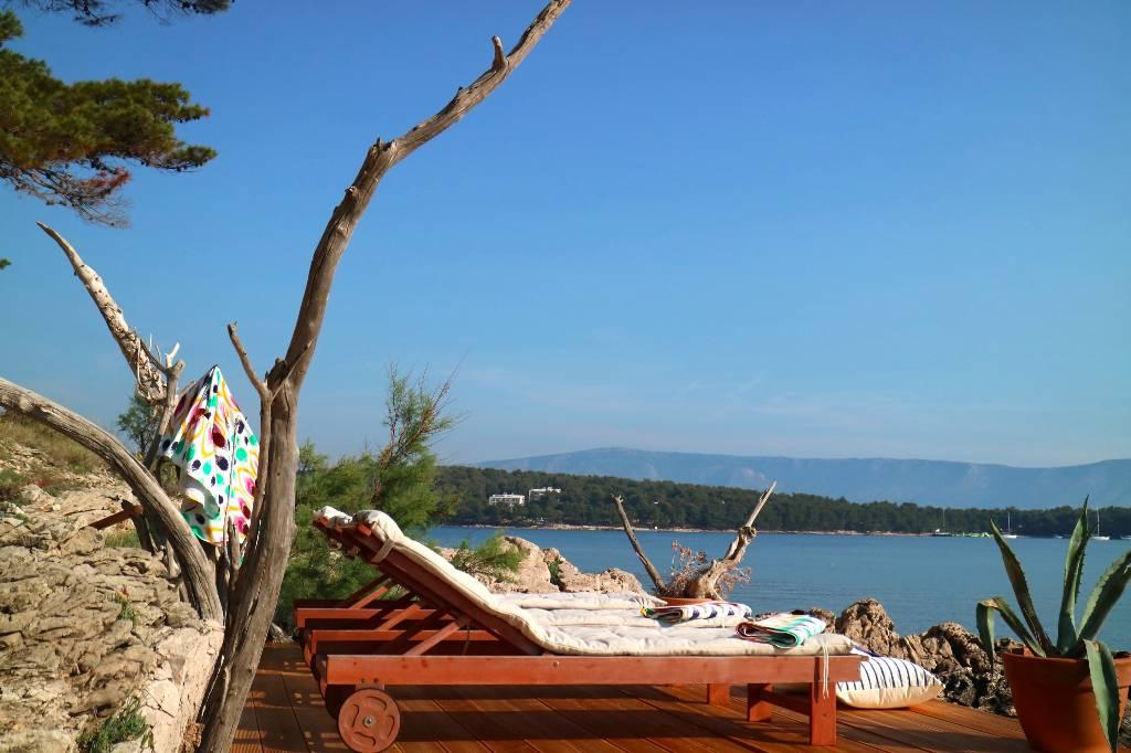 Vila Villa Tana  mit Schwimmbad und ein kleiner Privatstrand, Jelsa, Insel Hvar Mitteldalmatien Kroatija