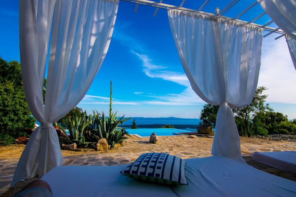 Villa Meerblick Villa   mit großem Pool und Tennisplätzen , Humac, Insel Hvar Mitteldalmatien Kroatie