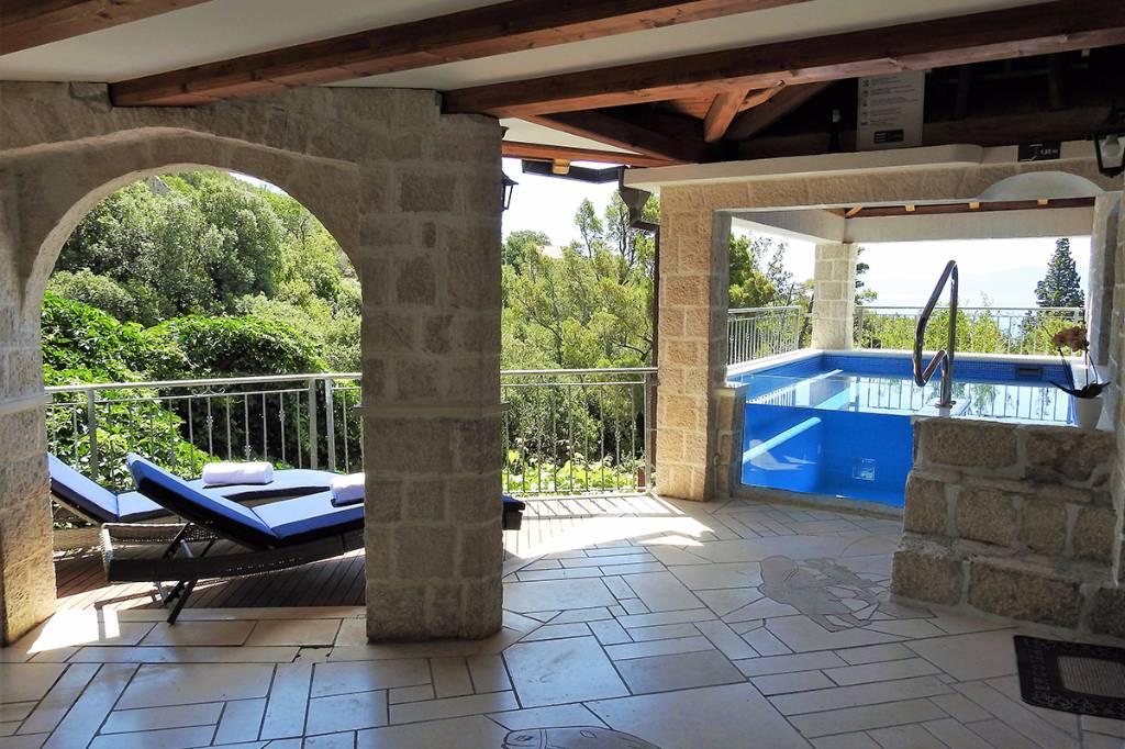 willa Strnj mit beheizbaren Pool, Sauna, Jacuzzi, Internet, Grillplatz . . ., Zivogosce, Makarska Riviera Mitteldalmatien Chorwacja