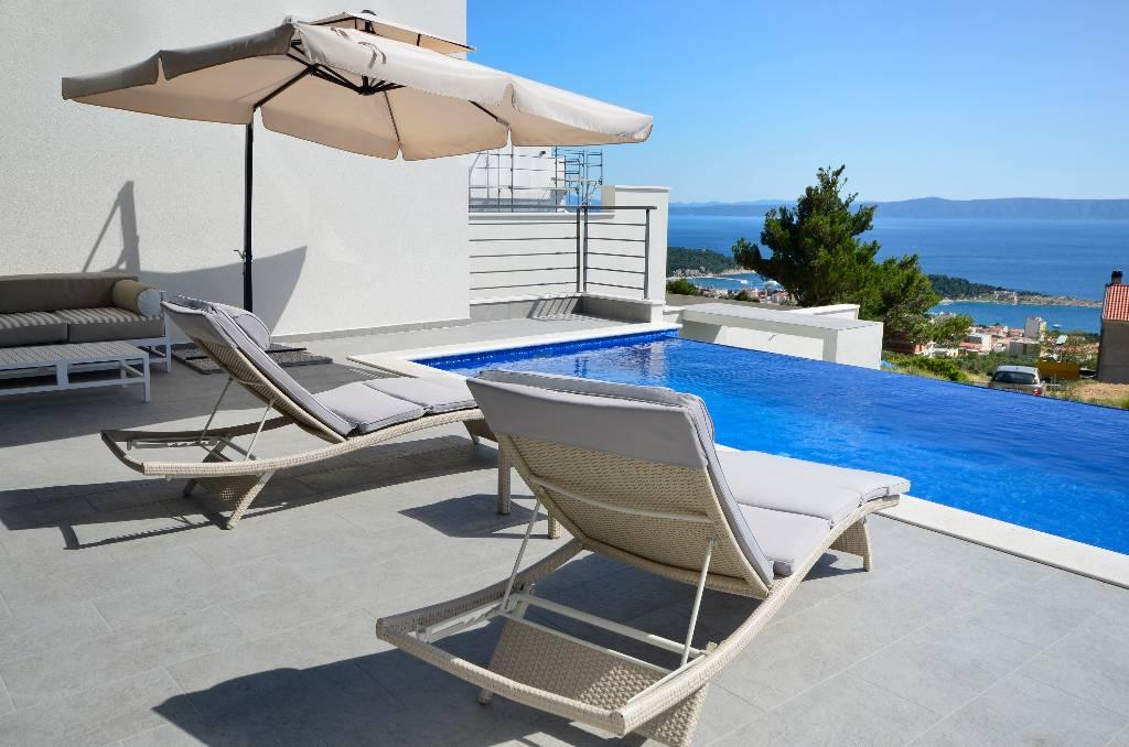 willa Nina, bietet einen 33 qm beheizbaren Pool und hat fantastischem Blicks über Meer, Makarska, Makarska Riviera Mitteldalmatien Chorwacja