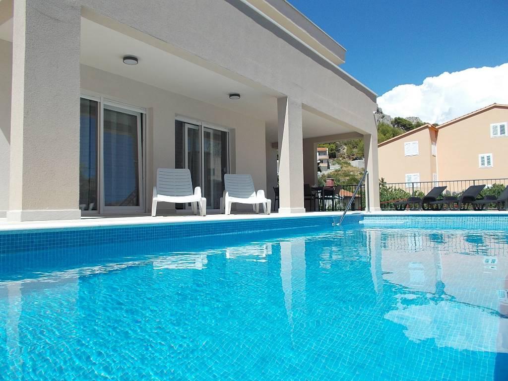 Chata, chalupa NEU! Villa Leonore mit privatem Pool, in der Nähe der Stadt, Strand und Meer, Omis, Omis Mitteldalmatien Chorvatsko
