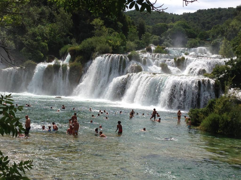 Krka waterfalls 20km away