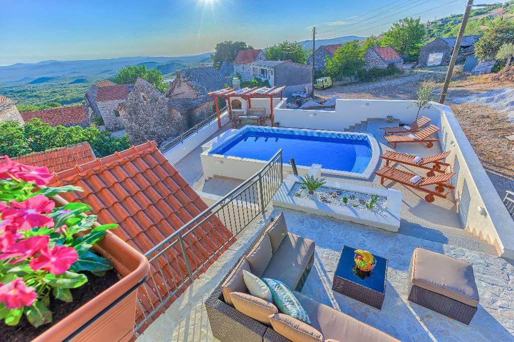 Villa VILLA HERITAGE MIT POOL, Unesic, Sibenik Norddalmatien Kroatie