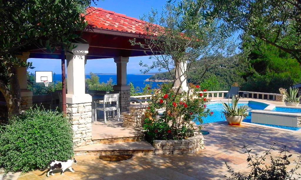 Villa Stone house-Villa Poplat, Poplat, Insel Korcula Süddalmatien Croazia