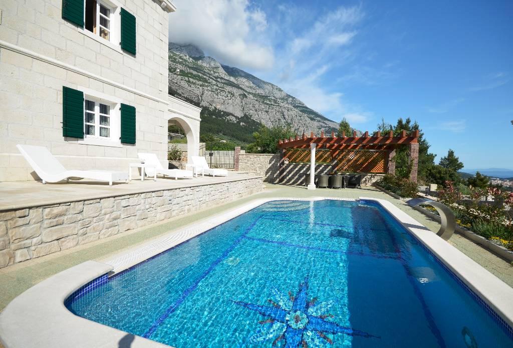 Ferienhaus in makarska makarska riviera mit pool - Pool am haus ...